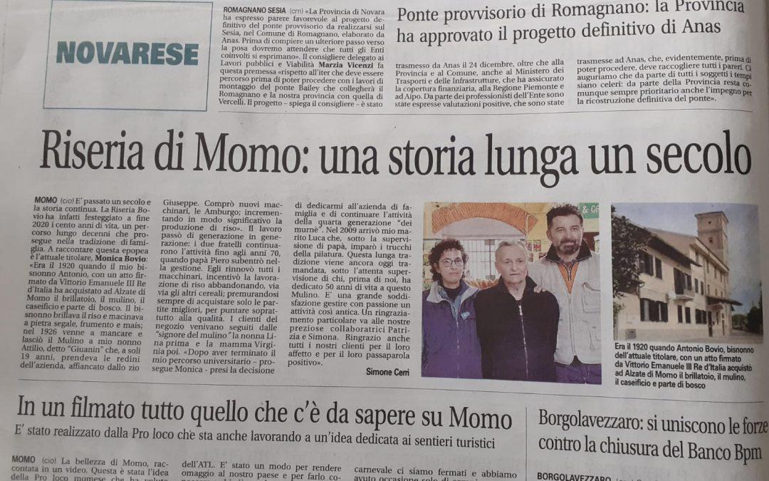 """Novara Oggi"" parla di noi."